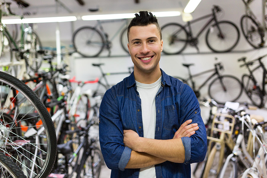Bicycle shop owner