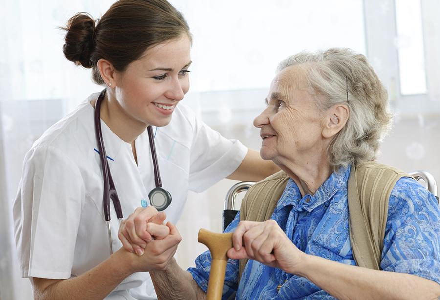 Nurse and patient landscape